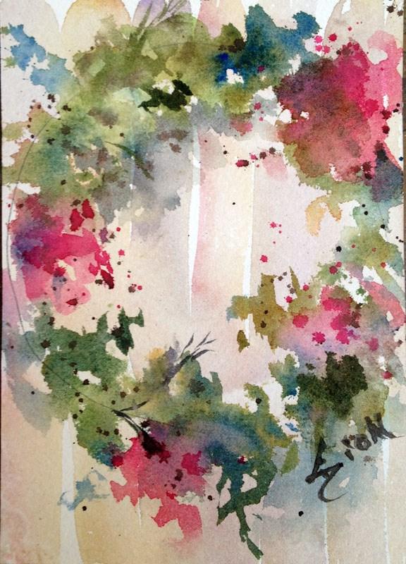 """""""Wreath 3"""" original fine art by Sue Dion"""