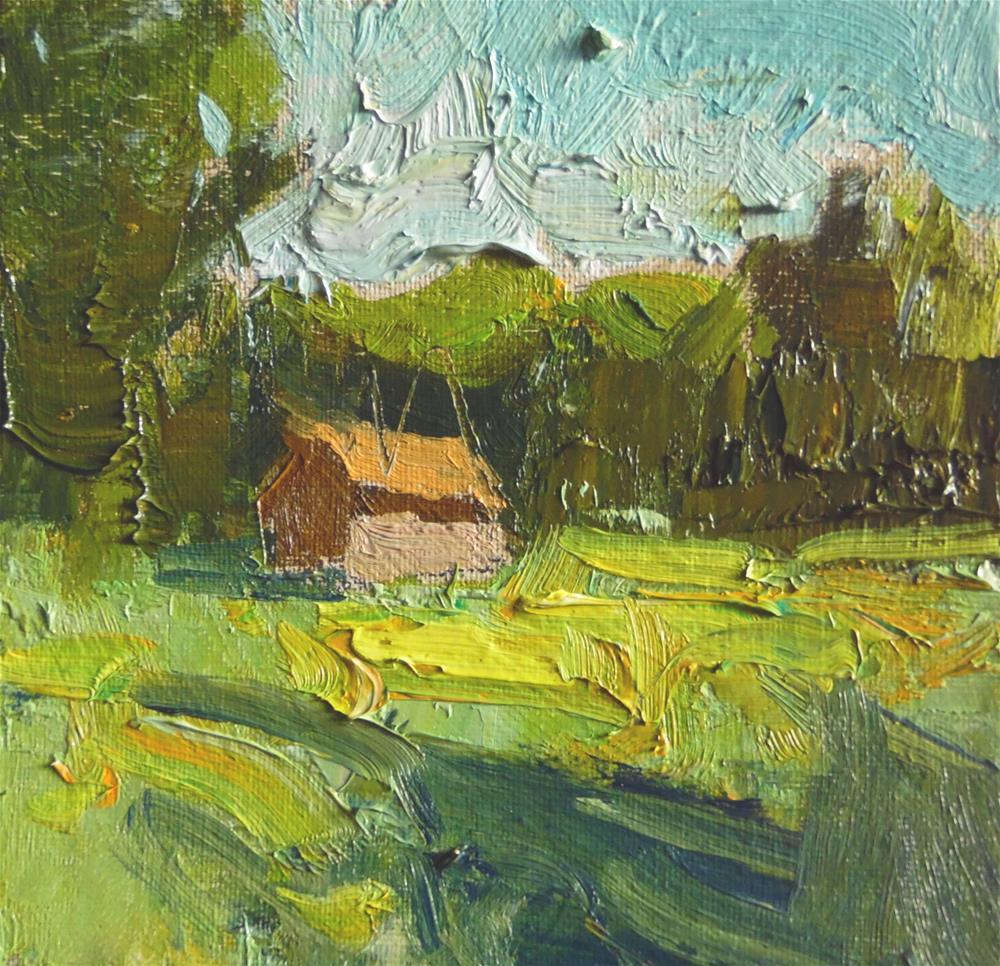 """Farmhouse"" original fine art by Michael Clark"
