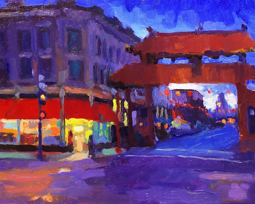 """Gate to Chinatown"" original fine art by Rick Worthington"
