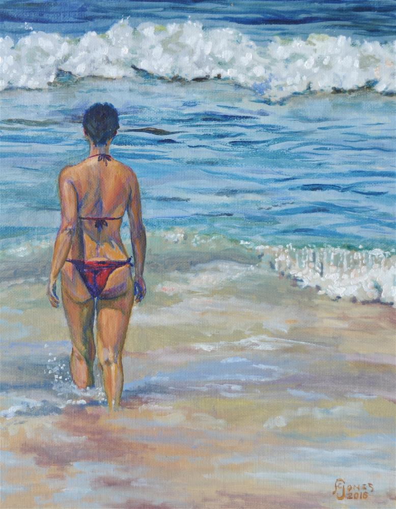 """Into the Surf"" original fine art by Fred Jones"