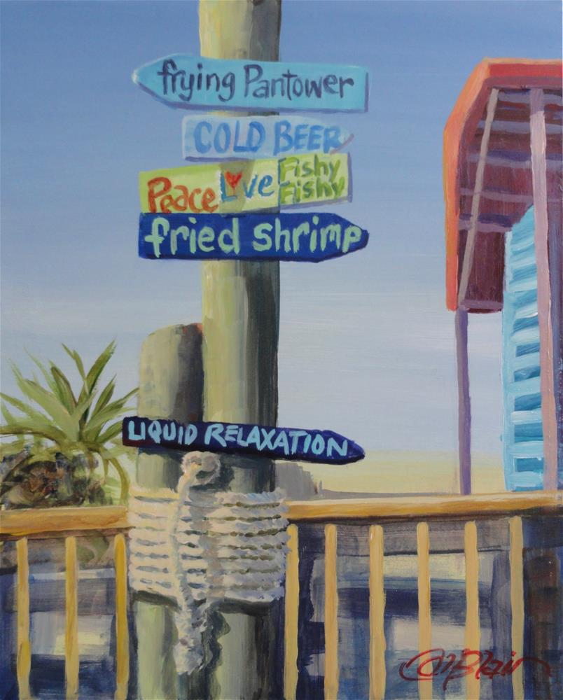 """Fishy Fishy, Southport, North Carolina"" original fine art by Christine Blain"
