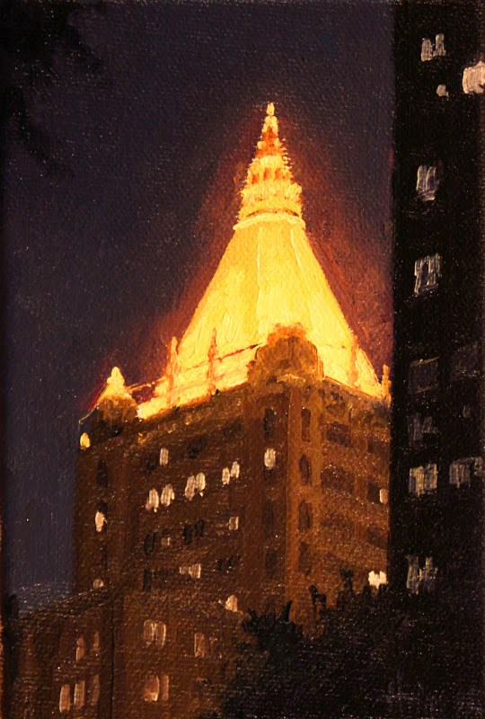 """New York Life Building"" original fine art by Ski Holm"