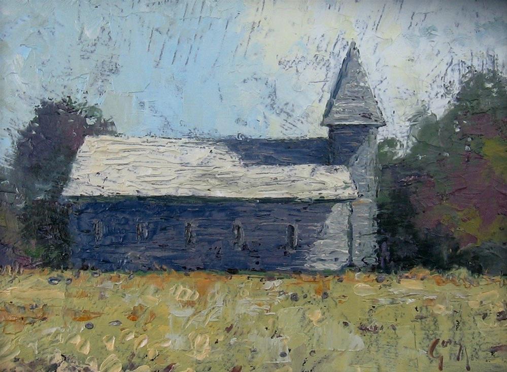 """Country Chapel"" original fine art by Doug Gorrell"