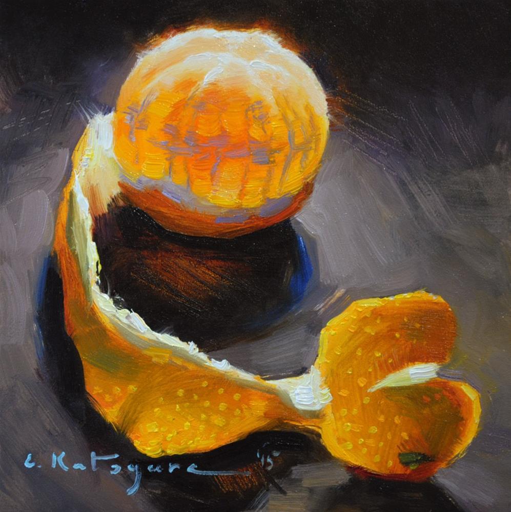 """Moroccan Mandarin"" original fine art by Elena Katsyura"