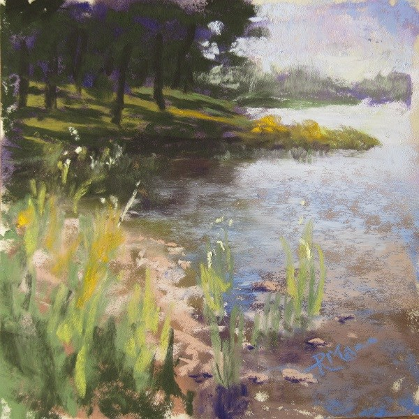 """Water's edge"" original fine art by Ruth Mann"