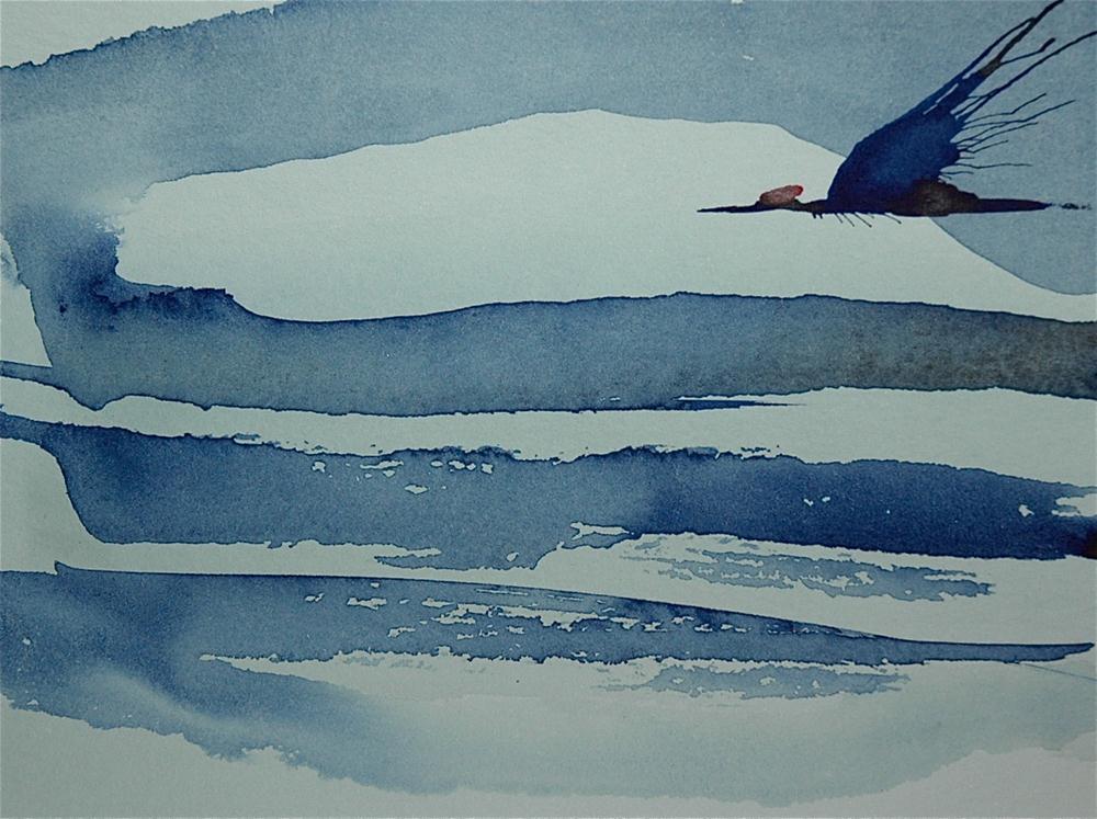 """Crane - 7"" original fine art by Ulrike Schmidt"