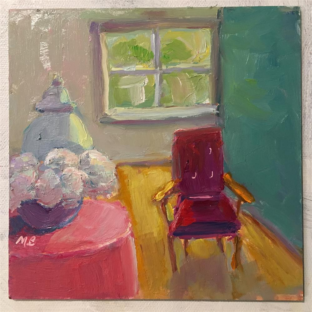 """Have a Seat, Please"" original fine art by Marcia Bergtholdt"