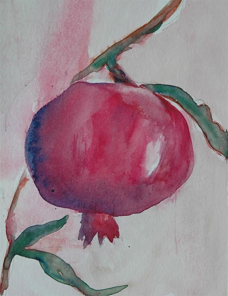 """Pomegranate"" original fine art by Ulrike Schmidt"