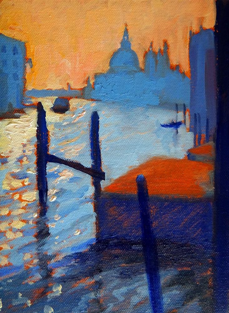 """Venice at Sunset"" original fine art by Nancy Paris Pruden"
