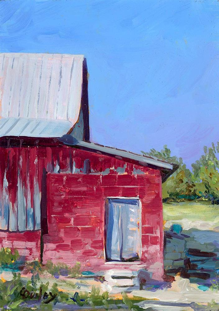 """Side Door"" original fine art by Chris Ousley"