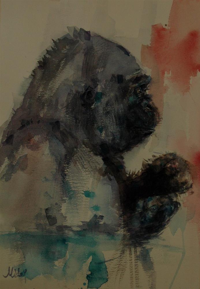 """From Al Ain Zoo"" original fine art by Midori Yoshino"
