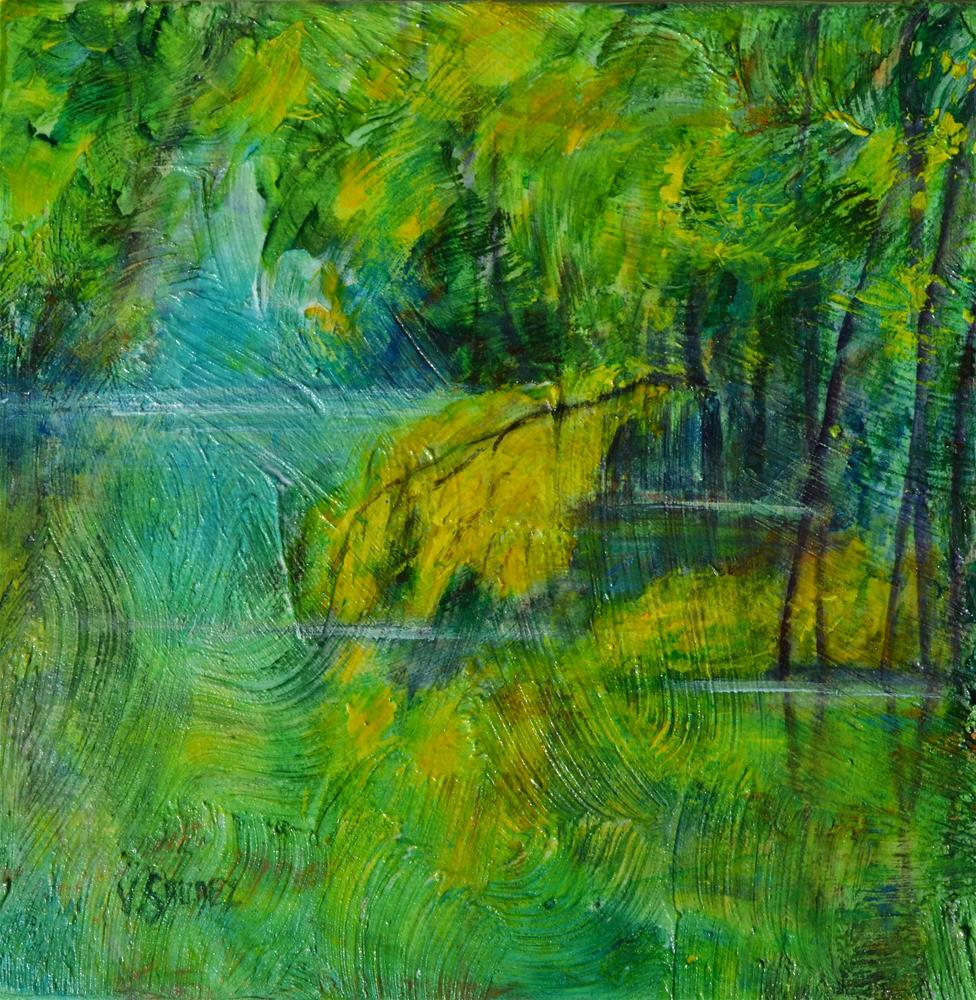 """""""March poitevin (France)"""" original fine art by Véronique Saudez"""