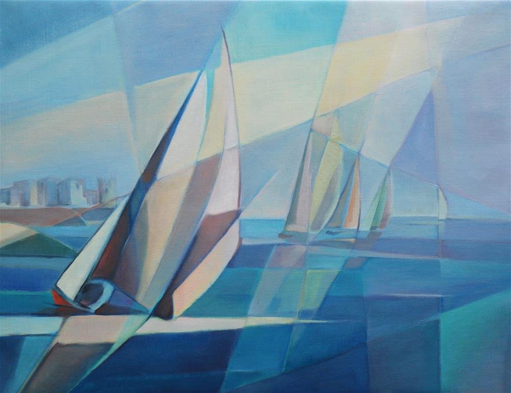 """Regatta"" original fine art by Olga Touboltseva-Lefort"