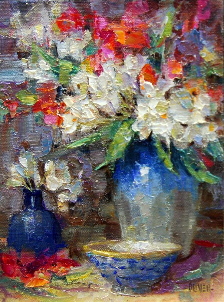 """""""Oleander Bouquet"""" original fine art by Julie Ford Oliver"""