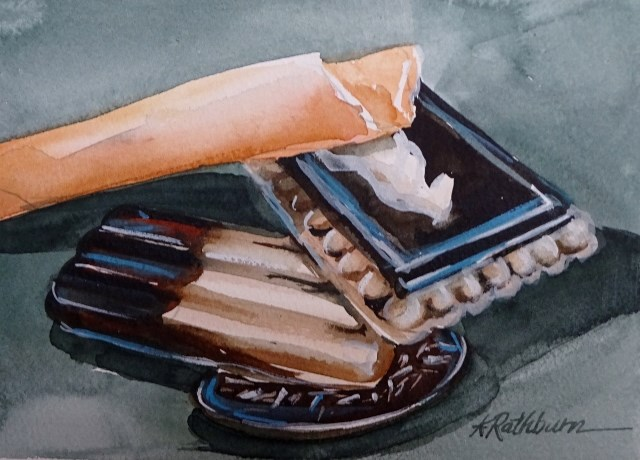 """Oh, I Love Cookies !!"" original fine art by Kathy Los-Rathburn"