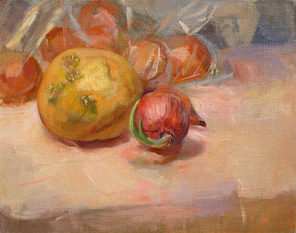 """Onions & Potato"" original fine art by Ann Buenaventura"