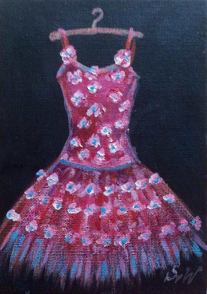 """Party dress"" original fine art by Sonia von Walter"