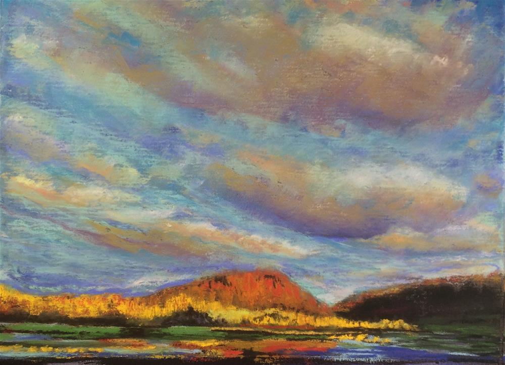 """Stoneybrook Sunset"" original fine art by Laurie Sammons"