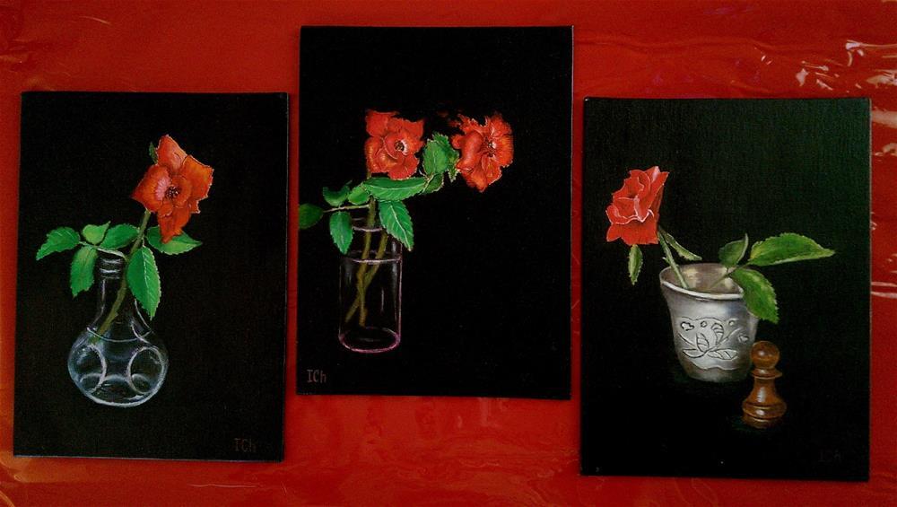 """ Roses Grouping  "" original fine art by Irina Chekhovtsova"
