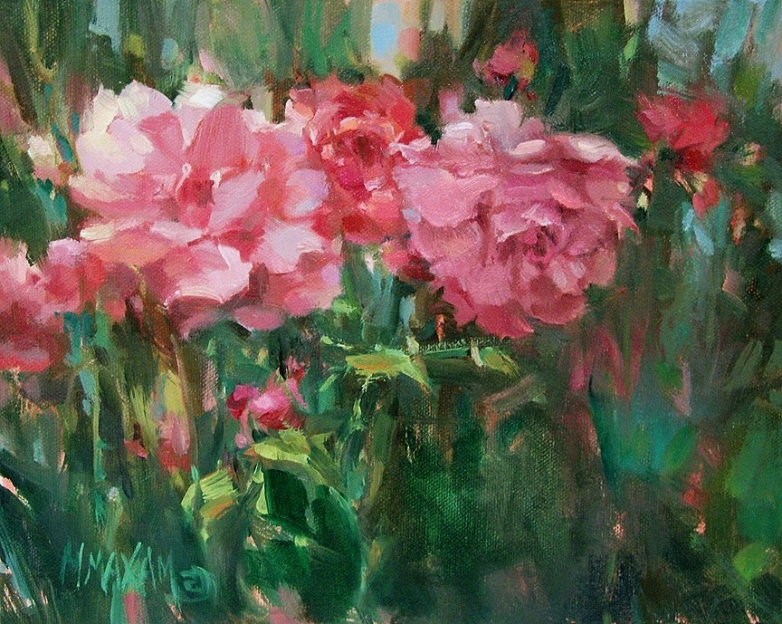 """Side By Side"" original fine art by Mary Maxam"