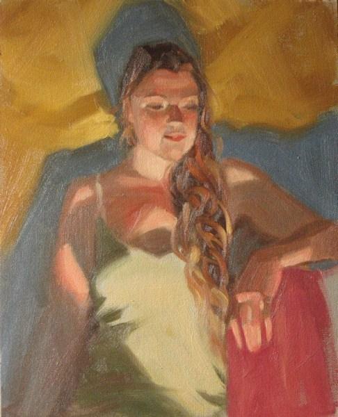 """Night light 8x10 oil"" original fine art by Claudia Hammer"