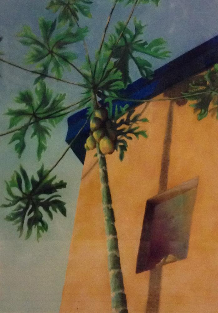 """Papaya Tree"" original fine art by Karen Collins"