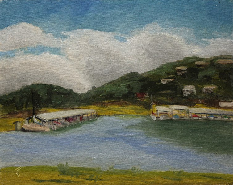 """Lago Vista Marina"" original fine art by Jane Frederick"