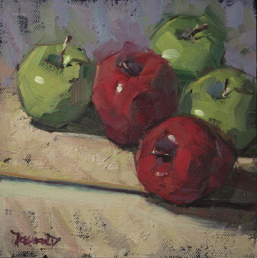 """Five Apples"" original fine art by Cathleen Rehfeld"