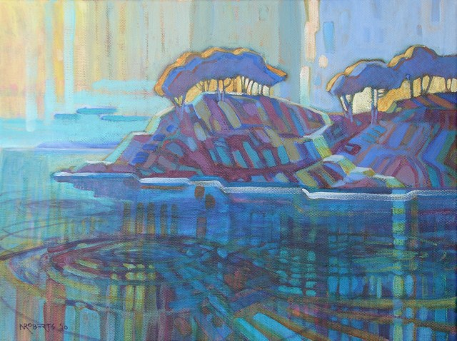 """Smugglers' Cove, Mendocino"" original fine art by Nancy Roberts"