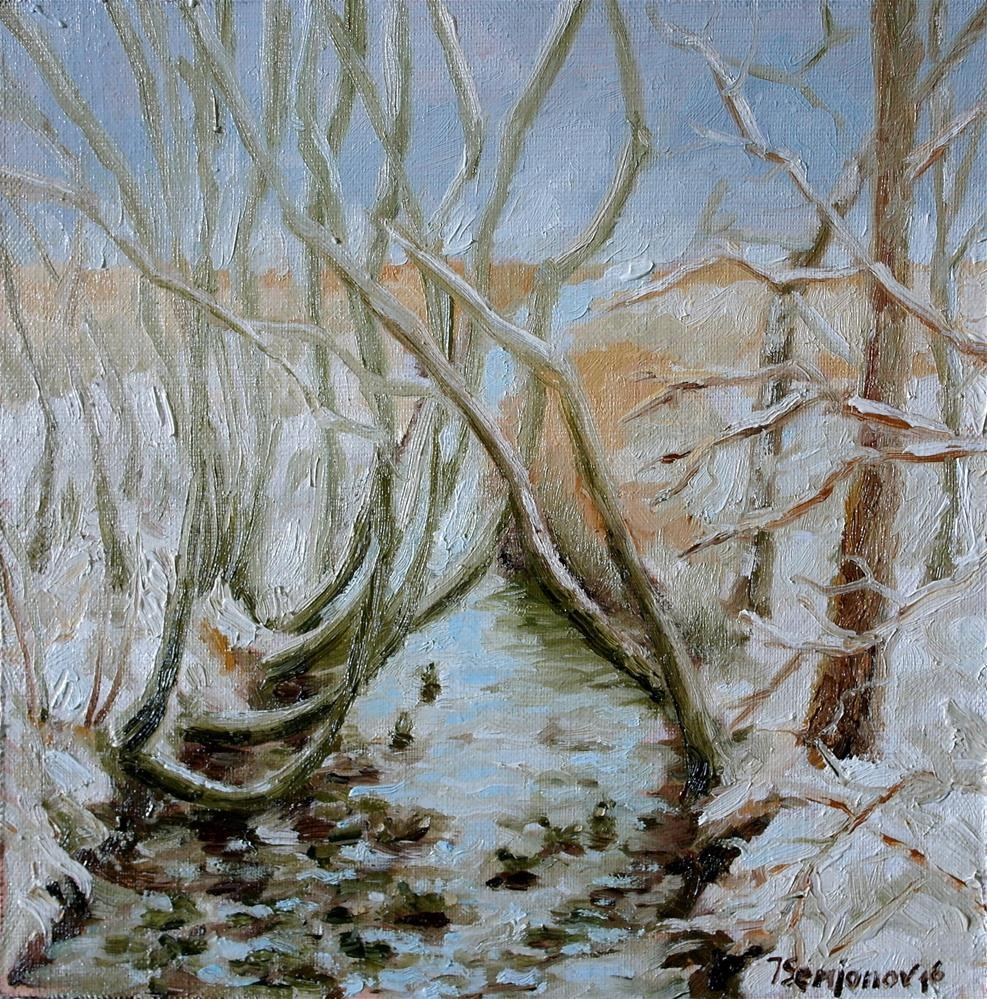 """winter trees"" original fine art by Yuriy Semyonov"