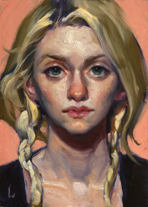 """Just Peachy"" original fine art by John Larriva"