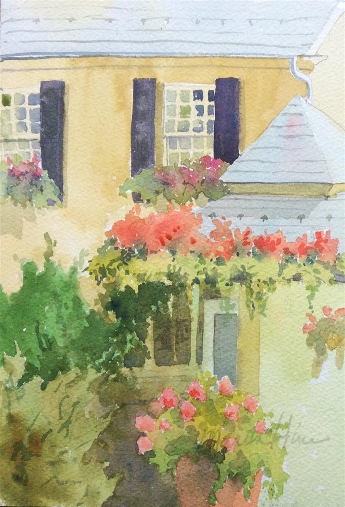 """June at Conestoga House"" original fine art by Marita Hines"