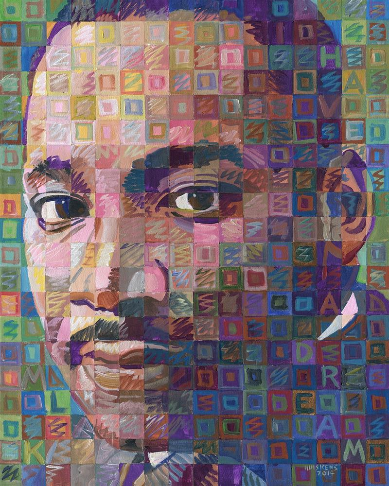 """Martin Luther King Jr. #3"" original fine art by Randal Huiskens"