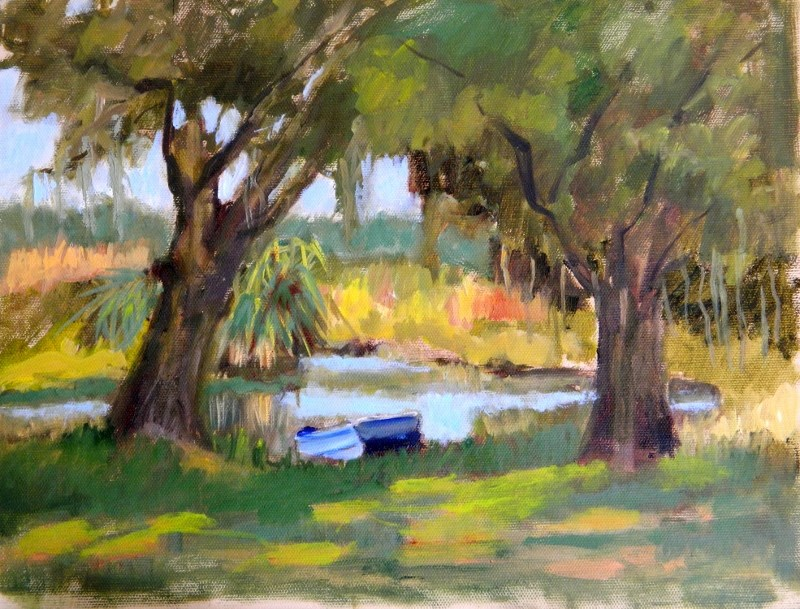 """I Love the Shade"" original fine art by Sharon Yarbrough"
