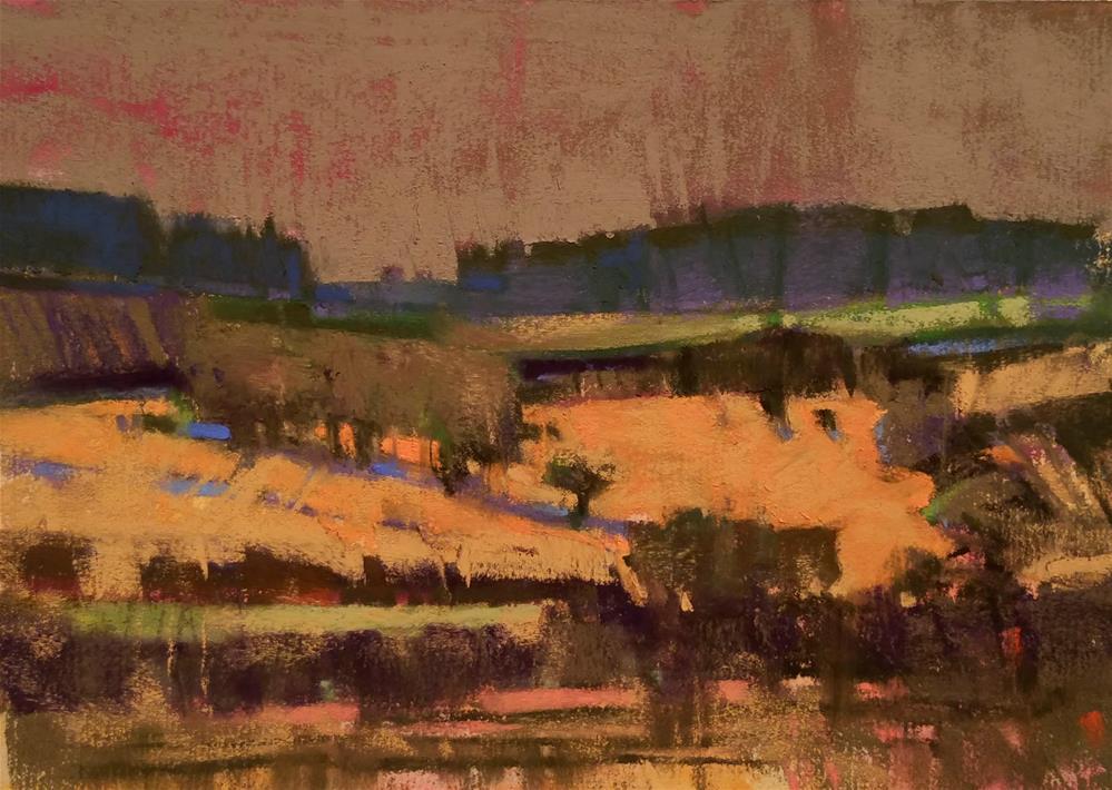 """""""Off Devil River Road"""" original fine art by Jennifer Evenhus"""