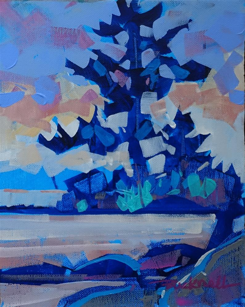 """Shoreline Blue II"" original fine art by Brian Buckrell"