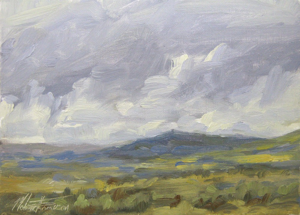 """High Desert Rain"" original fine art by Melanie Thompson"