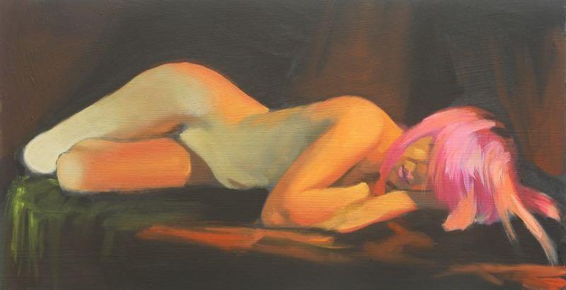 """Reclining twist"" original fine art by Peter Orrock"