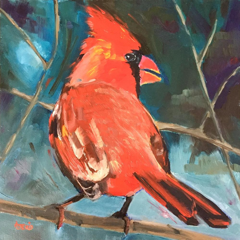 """Poppa Red"" original fine art by Andrea Jeris"