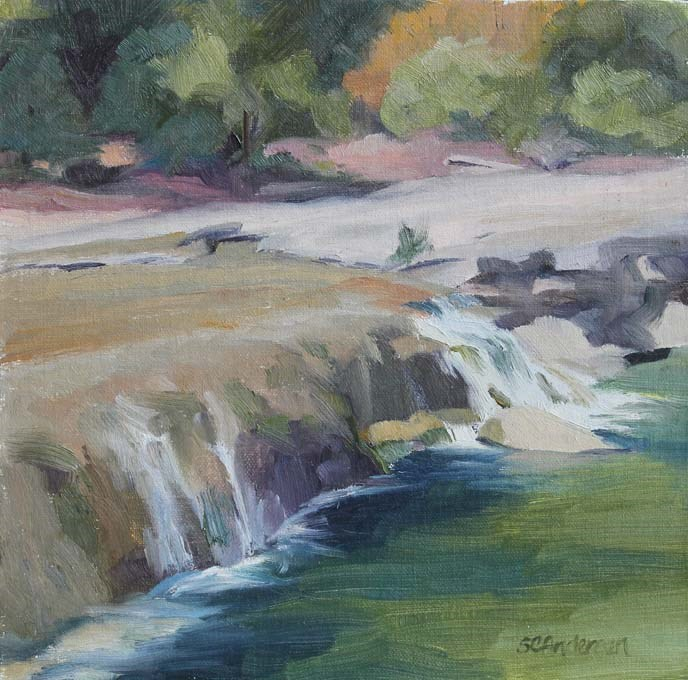 """Bull Creek Falls"" original fine art by Susan Andersen"
