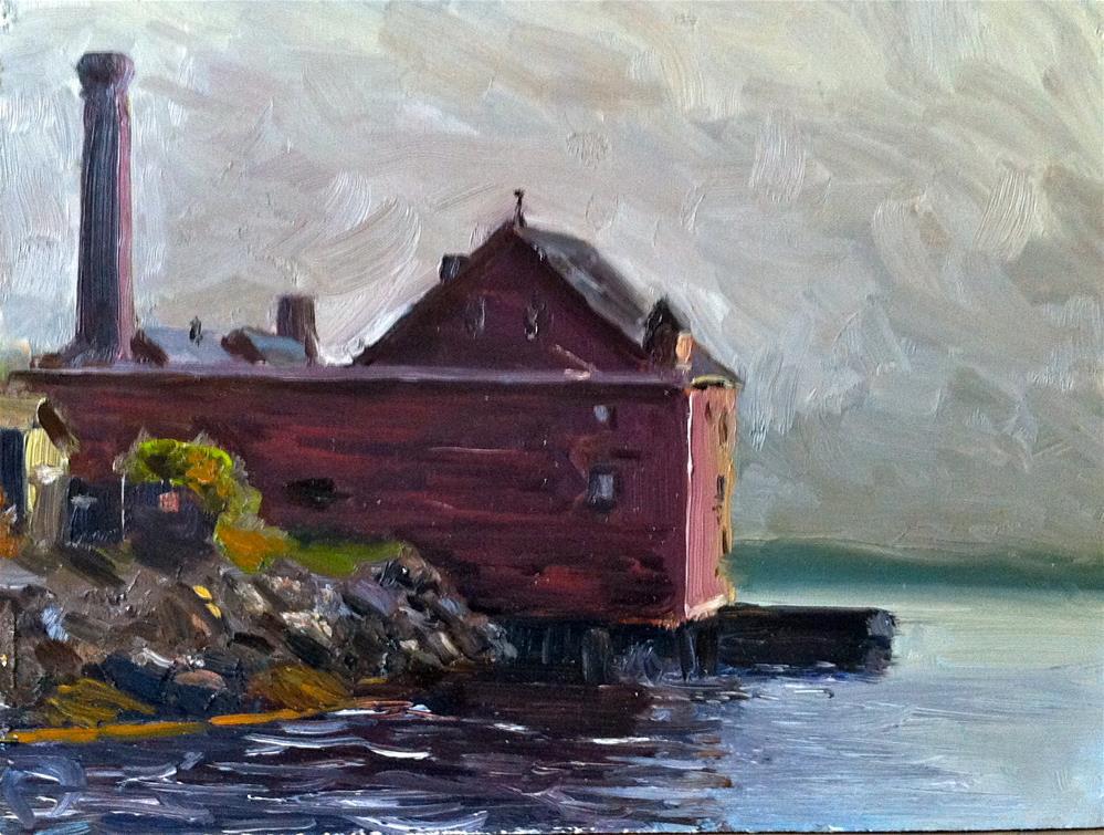 """Old Paint Factory Gloucester"" original fine art by Peter Bain"