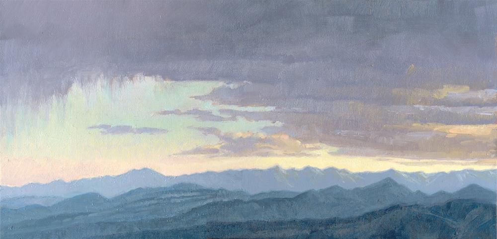 """Nevada Sky #2"" original fine art by Kath Reilly"