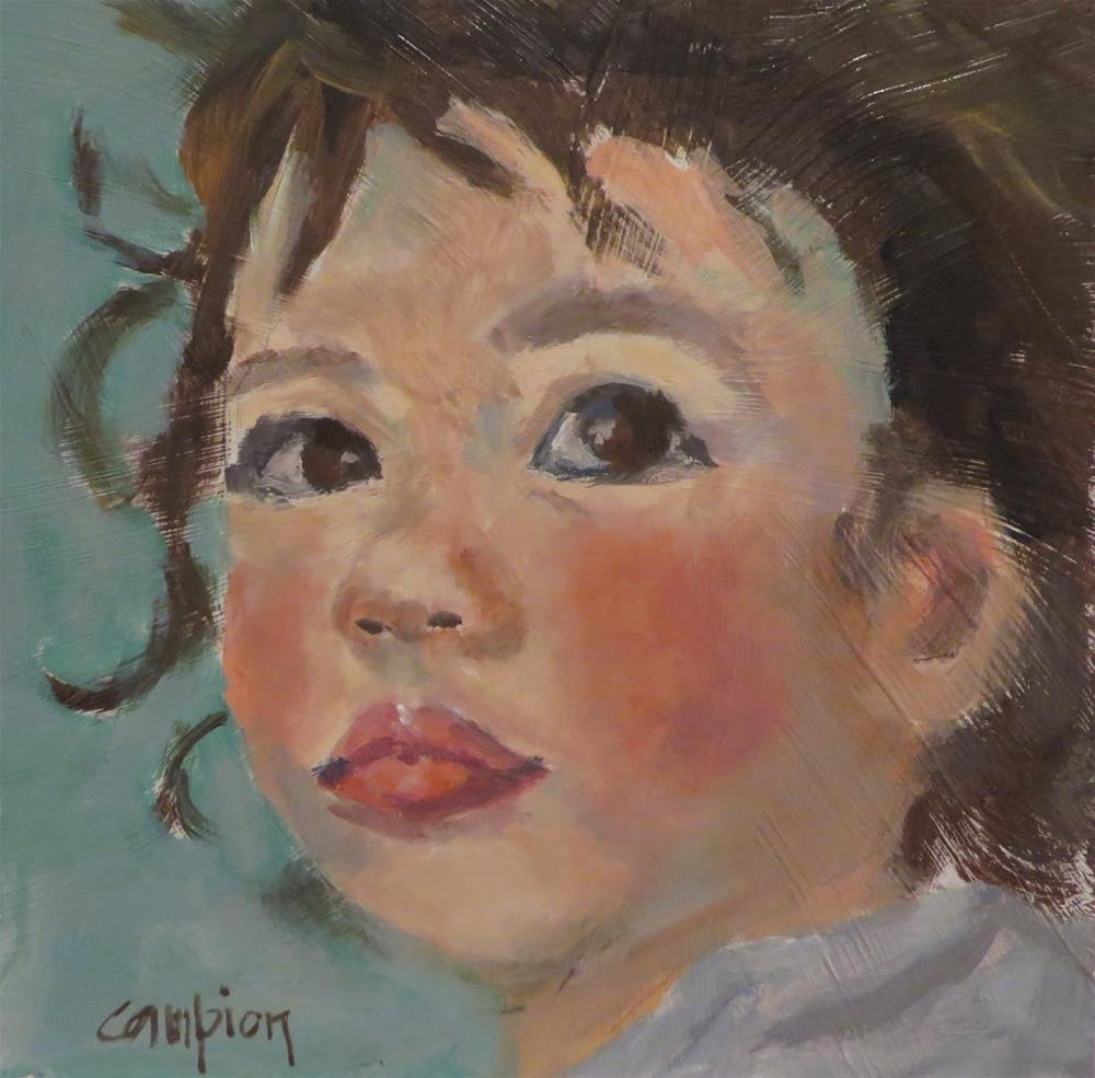 """782 Pink Cheeks"" original fine art by Diane Campion"