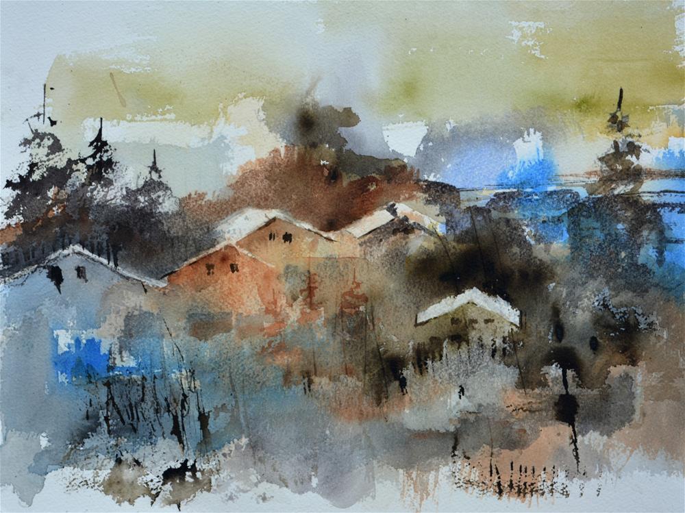 """""""watercolor 615003"""" original fine art by Pol Ledent"""