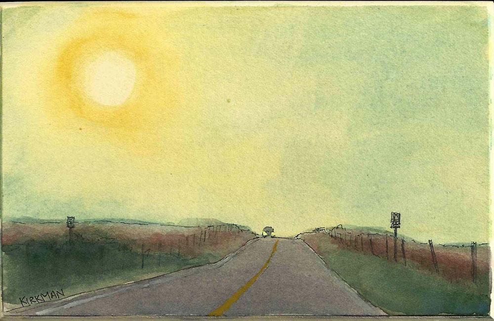 Road Sketch 12 original fine art by Rita Kirkman