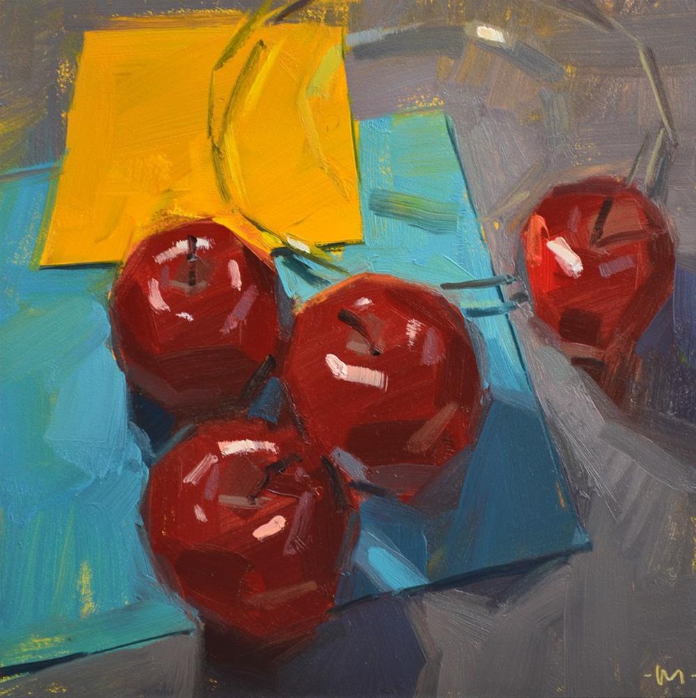 """Meeting at the Square"" original fine art by Carol Marine"