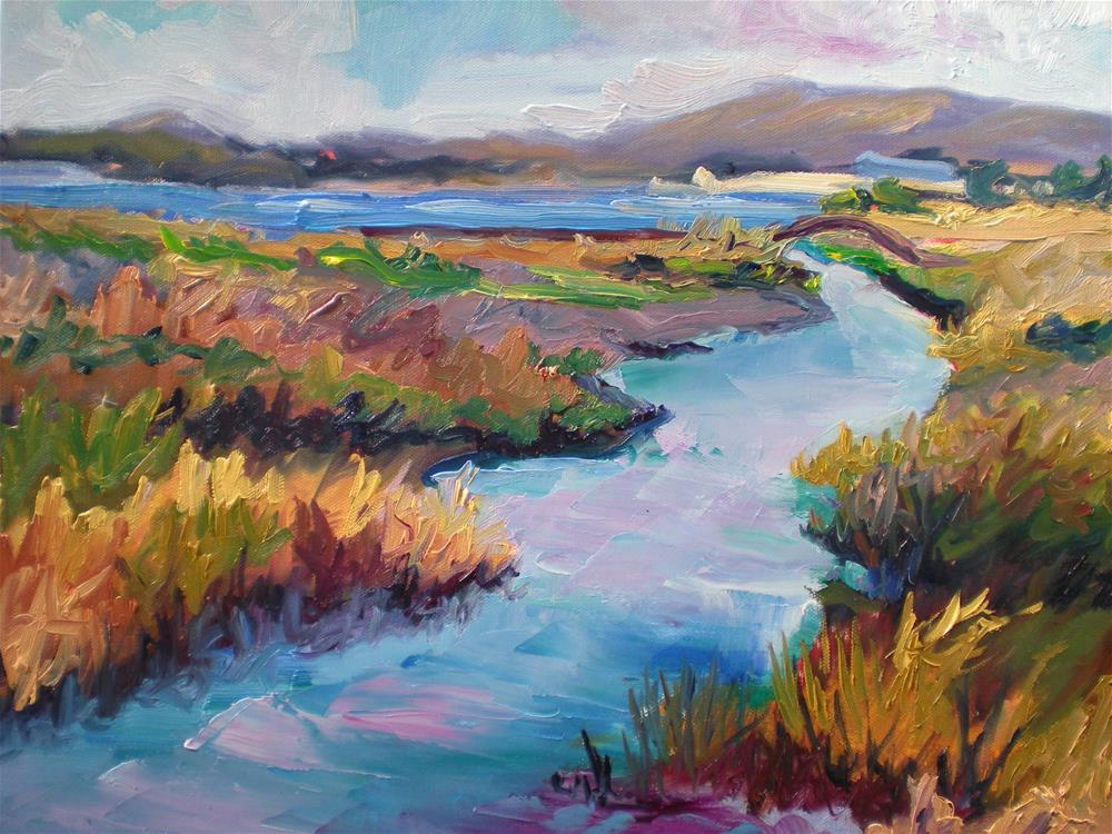 """Martinez Estuary "" original fine art by Loralee Chapleau"