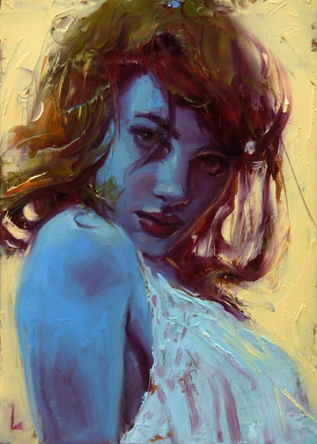 """Too Blue"" original fine art by John Larriva"