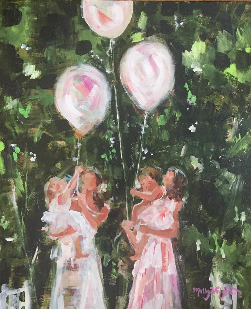"""Party Girls"" original fine art by Molly Wright"