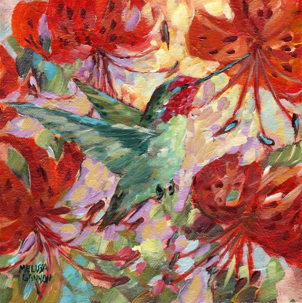 """Tiger Lily Banquet"" original fine art by Melissa Gannon"
